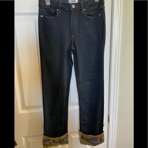 RARE Paige jeans size 27 hoxton straight pea cock